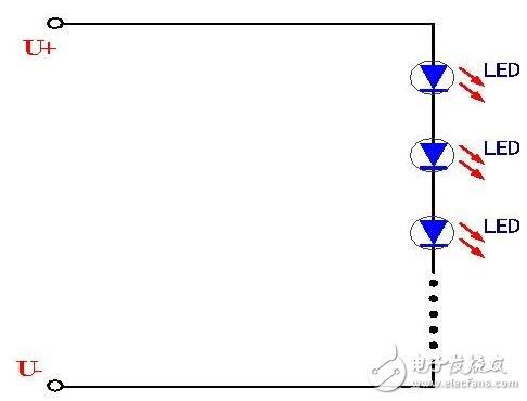 LED驱动的四种连接方式