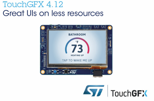 STMicroelectronics Updates TouchGFX Software Package
