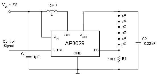 基于AP3029变换器的WLED背光驱动电源设计
