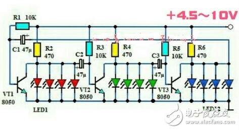 led循环灯电路图
