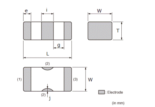 适用于大电流的电容器芯片的产品规范