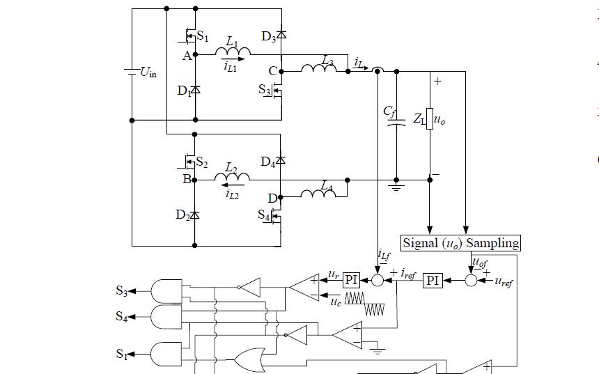 帶SPWM控制和單電流傳感器的雙buck全橋逆變器的論文說明