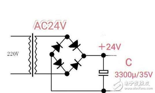 变压器降压整流电路图