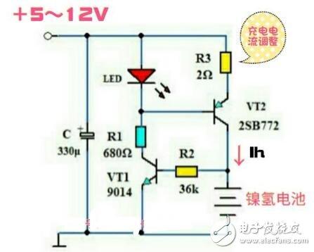 镍氢电池恒流充电电路图