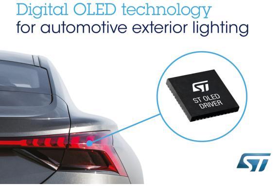 意法半導體攜手奧迪推出下一代創新的OLED汽車外...