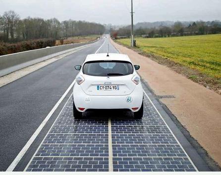 欧美国家正在开始实验为电动汽车修建充电马路