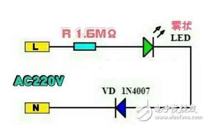 LED电源指示灯电路