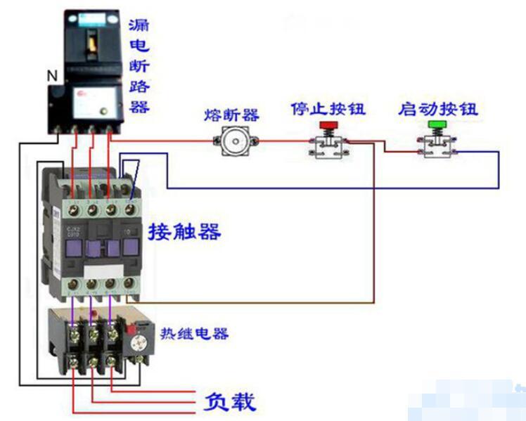熱過載繼電器接線圖與復位方法