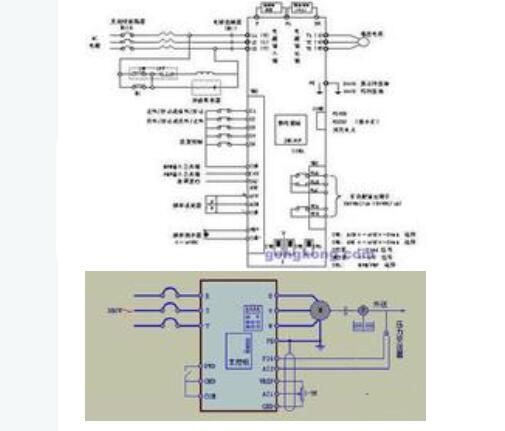 变频器控制柜接线图及安装方法