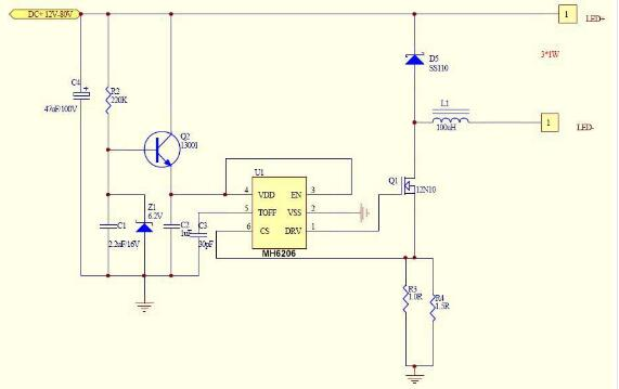 led串联驱动电路图