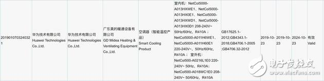 华为空调产品通过国家3C认证,入局空调领域