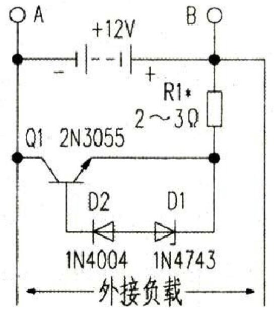 蓄电池充电保护电路图