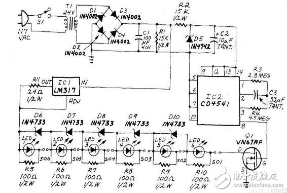 电池充电器电路图