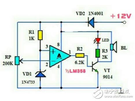 蓄电池电压电路图