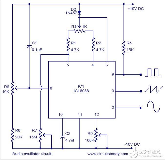 音頻振蕩電路分析其工作原理