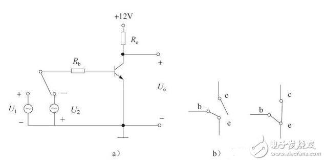晶体管构成的开关电路图