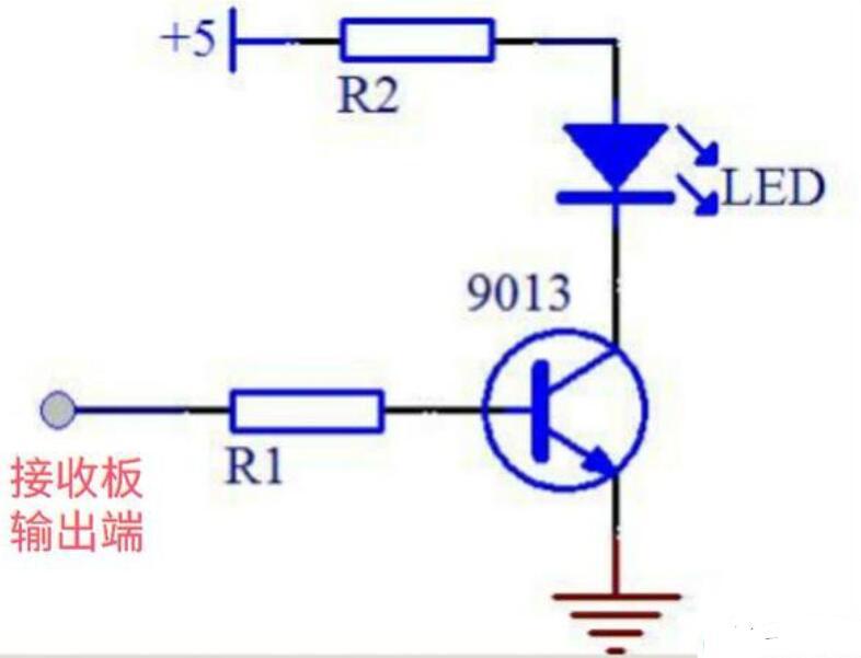 三极管构成的高低电平转换电路