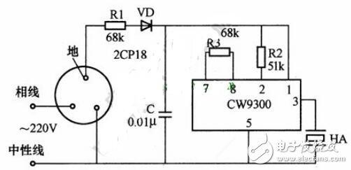 漏電報警插座電路圖詳解