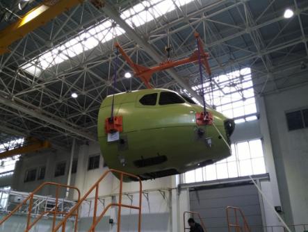 新舟700飞机的各部分已陆续完成下架