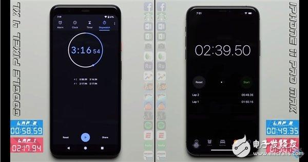谷歌Pixel4XL和iPhone11ProMax哪个速度最快