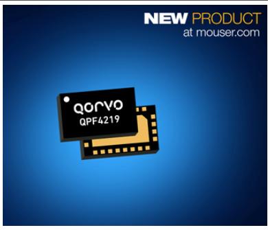 貿澤推出基于Wi-Fi5 IoT系統設計的Qorvo QPF4219前端模塊