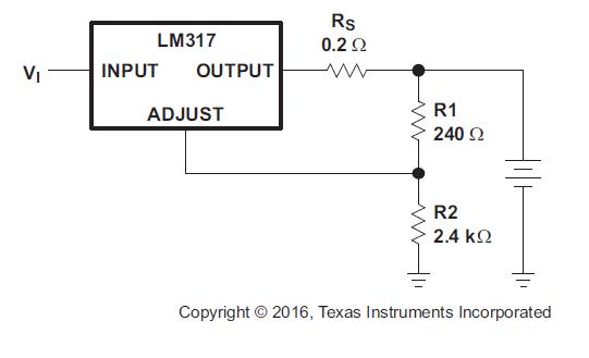 LM317三端正电压调节器芯片的数据手册