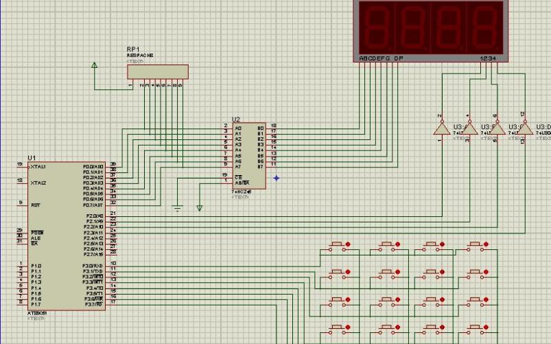 使用51单片机开发板实现LED点阵显示数字0的程序免费下载