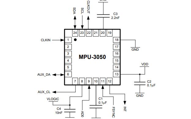 MPU-3050运动处理单元产品说明书