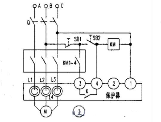 电动机保护器的工作原理及接线实物图