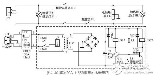 电热水器电路图讲解
