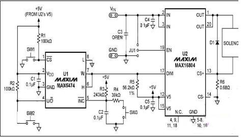 電磁閥控制電路工作原理