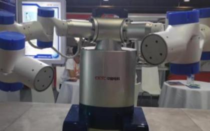 我国自主研发的双臂协作机器人已正式亮相