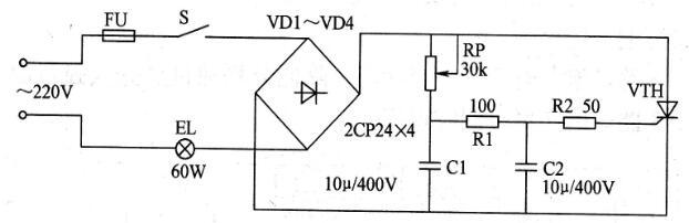 三款晶闸管调光电子电路图