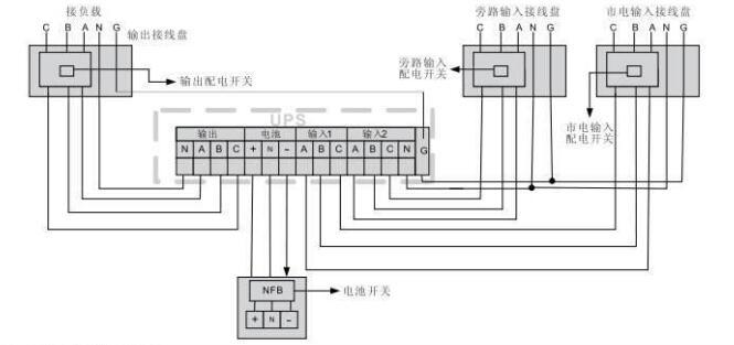 ups电池组接线图