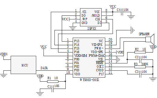N588D语音芯片的数据手册和使用资料免费下载