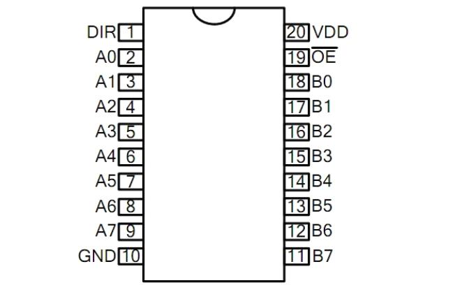 D74HC245双P沟道增强型MOS管的数据手册免费下载
