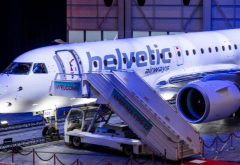 赫尔维蒂航空公司接收了首架巴航工业的E190-E2飞机
