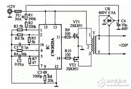 家用逆变电源电路图
