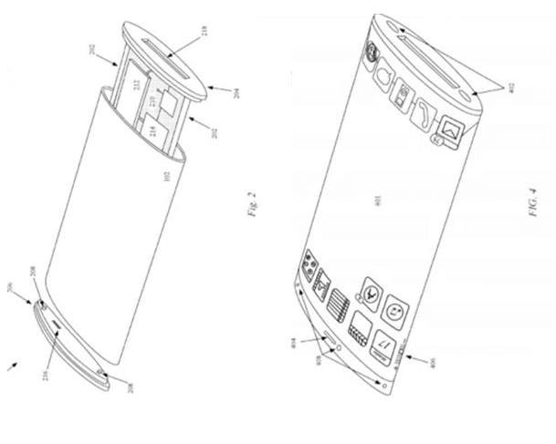 苹果申请了一份环绕屏手机设计的专利