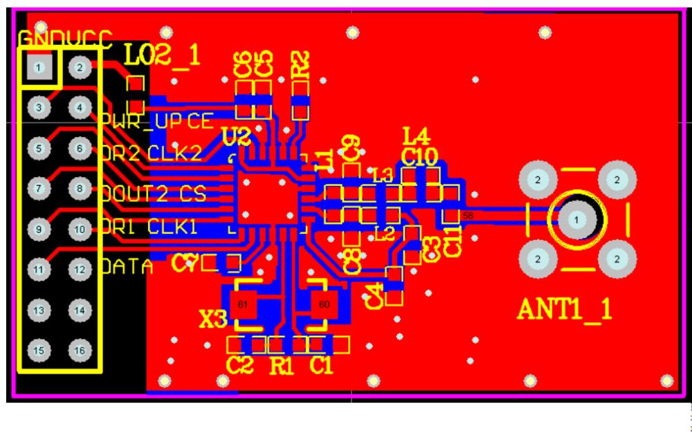 nRF2401无线模块的PCB图免费下载