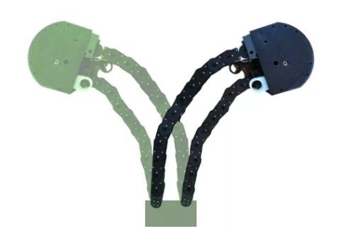 从植物中得到的灵感,创造出可柔性穿梭的机器人