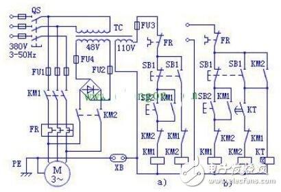 能耗制動控制電路圖