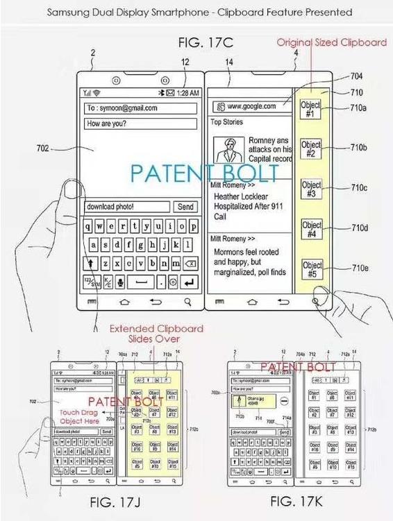 三星双屏智能手机专利曝光与微软双屏手机Surfa...