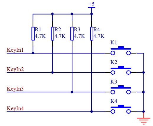 单片机独立式按键和矩阵式按键电路设计