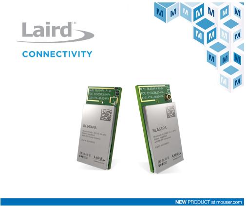 面向藍牙5和Thread實現的Laird BL654PA模塊在貿澤開售