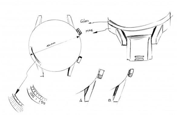 荣耀魔法手表2设计草图曝光采用了数字刻度表盘设计