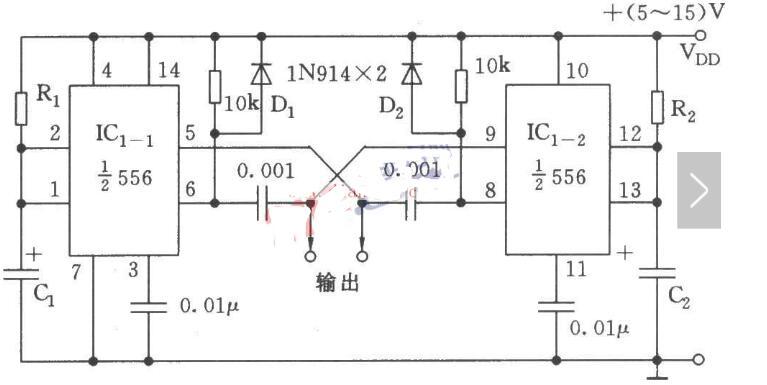 无稳态多谐振荡器电路