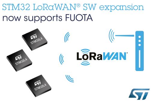 意法半导体为STM32Cube生态系统新增LoRaWAN®固件无线更新支持