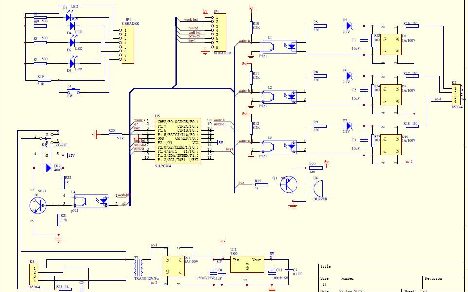 使用51单片机设计一个深井泵自动控制器的资料说明