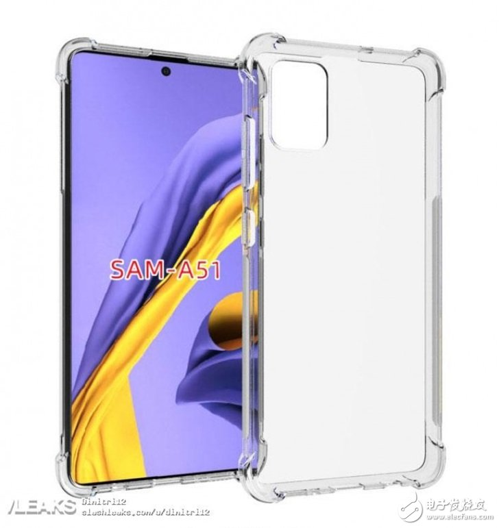 三星Galaxy A51渲染图,采用屏下指纹技术与后置四摄像头设计
